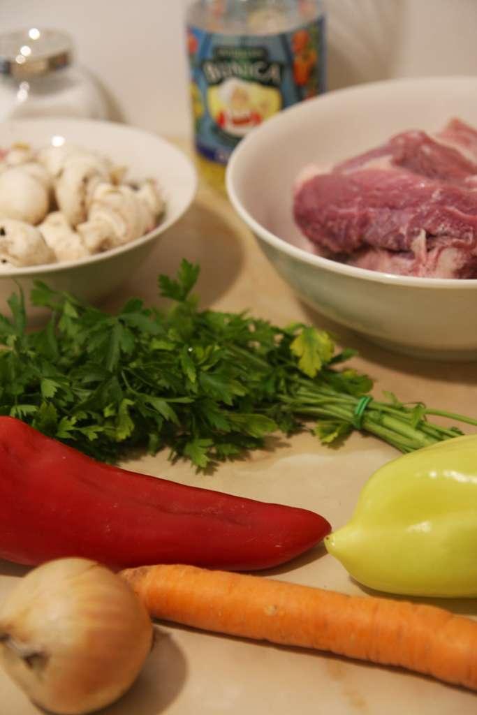 Ingrediente tocanita de vita cu ciuperci