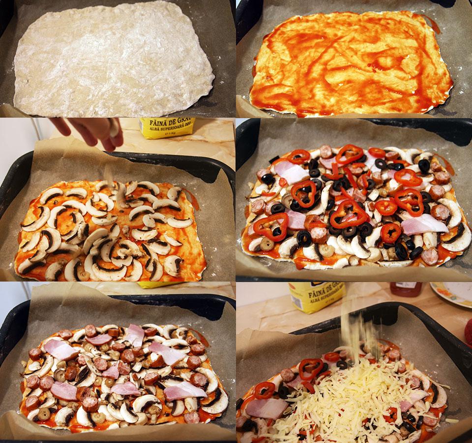 Reteta pizza de casa - etape