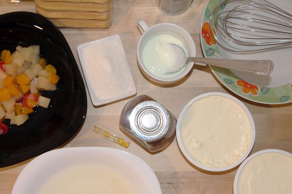 Reteta Tiramisu cu fructe - ingrediente